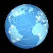 Global internet network — Stock Photo