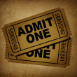 Movie tickets vintage - Stock Photo