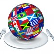 World cuisine - Stock Photo