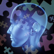 Stock Photo: Puzzled brain