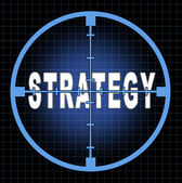 Strategy and focus — Stock Photo