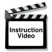 Instruction video — Stock Photo