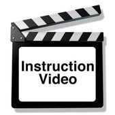 Instruction video — Stock Photo