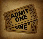 Movie tickets vintage — Stock Photo