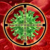 Killing a human virus — Stockfoto