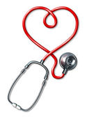 Stethoscope heart — Foto de Stock