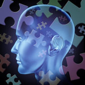 Puzzled brain — Stock Photo