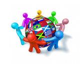 International network of world cooperation — Stock Photo