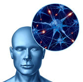 Human intelligence with active neurons — Stock Photo