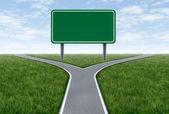 Metáfora do sinal de estrada — Foto Stock