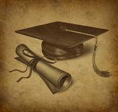 Graduation symbol — Stock Photo