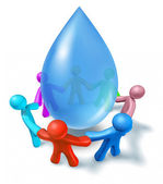 Clean drinking water symbol — Stock Photo