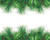 ホーリーと松の枝 — ストック写真