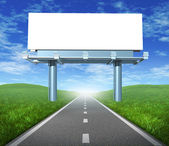 Blank road billboard — Stock Photo