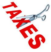 Senkung der steuern — Stockfoto