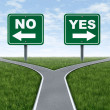 Yes or no decision — Foto Stock