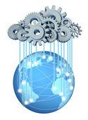 Global cloud computing network — Stock Photo