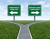 Democrats and Republicans election choices — Stock Photo