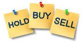 Comprar venda preensão notas de escritório — Foto Stock