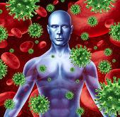 Infezione e malattia umana — Foto Stock