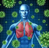 肺部感染 — 图库照片