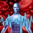 Stroke and heart attack warning signs — Stock Photo