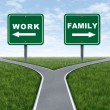 Foto Stock: Work or family