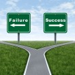Stock Photo: Success and failure