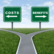 Costs and benefits — Foto Stock