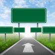 Strategy road signs — Stock Photo