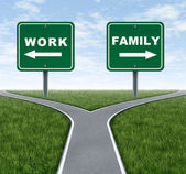 Work or family — Stock Photo