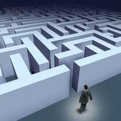 Business maze challenge — Stock Photo