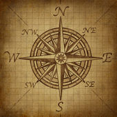 Compass rose with grunge texture — ストック写真
