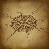 Compass rose em perspectiva com textura grunge — Foto Stock