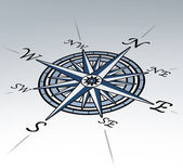 Compass rose in perspective on white background — Stok fotoğraf