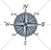 Compass rose on white background — Foto Stock