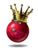 Bowling koning kampioen — Stockfoto