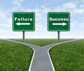 Success and failure — Stock Photo