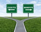 Náklady a přínosy — Stock fotografie
