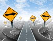 Duidelijke strategie en leiderschap oplossingen — Stockfoto