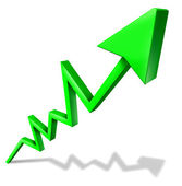 Success in business graph — Stock Photo