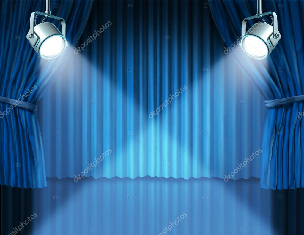 Blue stage curtains blue stage curtain vector free vector in - Blue Stage Curtains Background Blue Stage Curtains Background Stage Spotlights On Blue Velvet Cinema Curtains