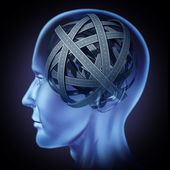 Confused puzzled human brain — Stock Photo