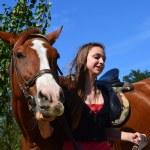 ������, ������: Girl leading horse
