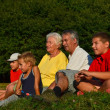 Stock Photo: Grandparents and grandchildren together