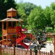 Stock Photo: Modern playground in a leisure park