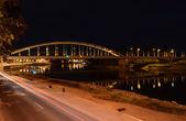 Pont de nuit à szeged, Hongrie. — Photo