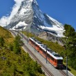 Royalty-Free Stock Photo: Gornergrat train and Matterhorn. Switzerland