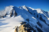 Mont Blanc, top of Europe, Alps mountains — Stock Photo