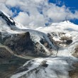 Pasterze glacier and Grossglockner, Austria highest mountain — Stok fotoğraf
